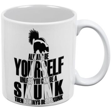 DCCKJY1 Always Be Yourself Skunk White All Over Coffee Mug Set Of 2