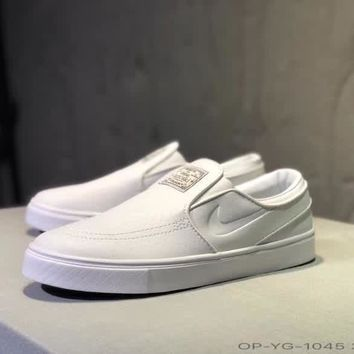 nike zoom stefan sb unisex casual simple solid color slip on shoes fashion couple flat shoes