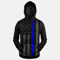 Tactical Thin Blue Line USA Hoodie (Ships in 2 Weeks)