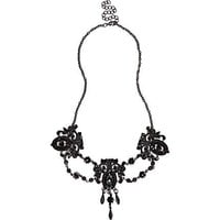 Black chandelier repeat statement necklace - necklaces - jewelry - women