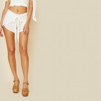 Wrap Star Tie Front Short