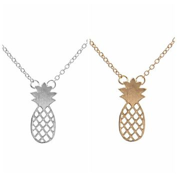 Gift New Arrival Jewelry Pineapple Shiny Stylish Lovely Silver Hot Sale Accessory Necklace [8804715335]