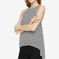 Women's Vince Camuto 'Nomad Stamp' High/Low Blouse