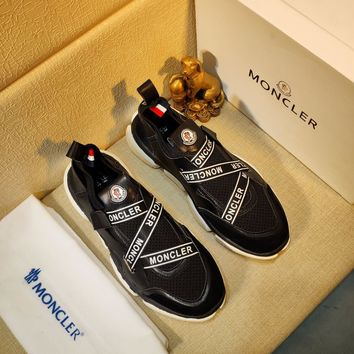 MONCLER  Men Fashion Boots fashionable Casual leather Breathable Sneakers Running Shoes