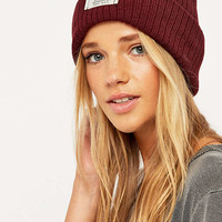 Reason Burgundy Ribbed Beanie - Urban Outfitters