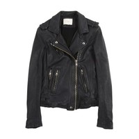 Han Jacket - Leather jacket - Navy - Leathers - Women - IRO
