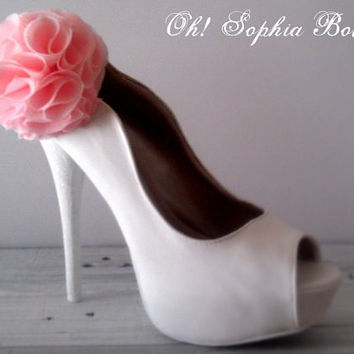 Shabby Chic Bridal Shoe Clips bridal by OhSophiaBoutique on Etsy