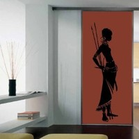 Custom Housewares Vinyl Decal African Tribal Woman Home Wall Art Decor Removable Stylish Sticker Mural Unique Design for Any Room