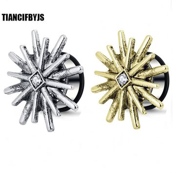 TianciFBYJS Ear Reamer Plugs Stainless Steel Single Flare Flesh Tunnel Expander Stretcher Body Tragus Piercing Jewelry Earring