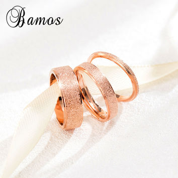 90% OFF Fashion Female Girls Geometric Ring Rose Gold Stainless Steel Ring Promise Wedding Engagement Rings For Women