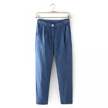 Summer Women's Fashion Denim Pants [4919987204]