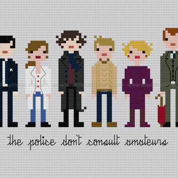 Pixel People - Sherlock - PDF Cross-stitch PATTERN - Instant Download