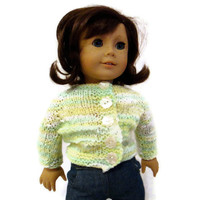 Sweater Doll Green Yellow White American Girl Doll