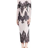 Wes Gordon Lace-Embroidered Tulle Cocktail Dress