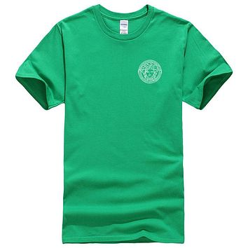 Versace New fashion bust side human head couple top t-shirt Green