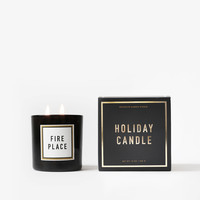 Fireplace Holiday Candle