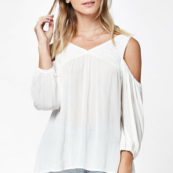 LA Hearts Embroidered Cold Shoulder Top at PacSun.com