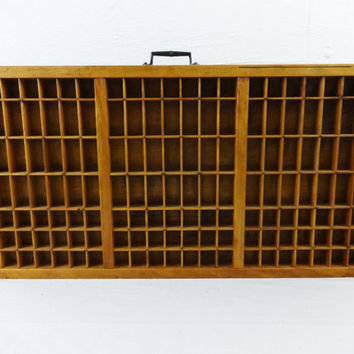 Vintage Letterpress Printers Drawer Tray Typeset  Wood Vintage Display Case Rustic What Not Shelf
