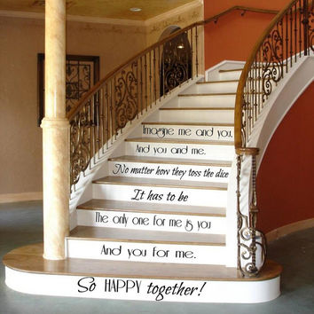 Family Wall Decal Quote Love Decals Art Mural Stair Riser Vinyl