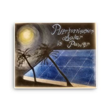 "Power To Puerto Rico Presents: ""Sleeping Solar Sunless Power"" on Canvas"