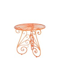Vintage Garden Table in Tangerine