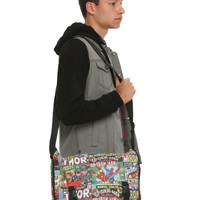 Marvel Comic Collage Messenger Bag