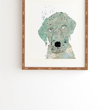 Brian Buckley Labrador Graffiti Framed Wall Art