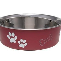 Loving Pets Bella Pet Bowl Merlot Size: Large