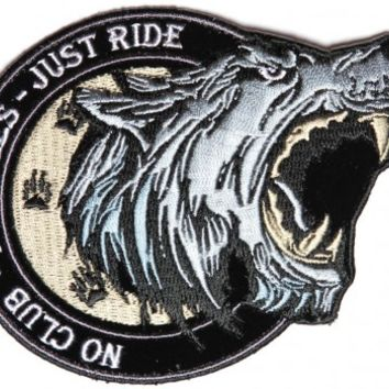 No Club No Rules Just Ride Small Biker Patch