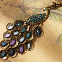 Vintage Style Exquisite Peacock Shape Alloy Necklace China Wholesale - Sammydress.com