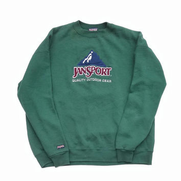 90s Jansport Crewneck Sweatshirt, Outdoor Sweater, Hiking Pullover