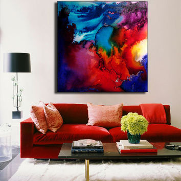 Abstract Art,Huge Abstract Painting, Original Abstract painting, Contemporary Modern Fine Art, Colorful Canvas Art, by Henry Parsinia 36x36