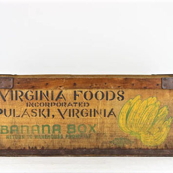 Banana Crate Banana Box Vintage Banana Box Vintage Banana Crate Wood Banana Crate Wood Banana Box Old Banana Crate Old Banana Box Industrial