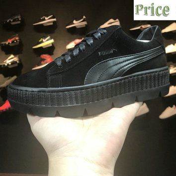 2018 Genuine Rihanna x puma Fenty Cleated Creeper Black Basket Suede 366268 04 Black sneaker