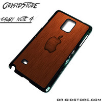 Wood Apple Texture Case For Samsung Galaxy Note 4 Case