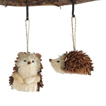 Sisal Hedgehog Ornament - 2 Styles