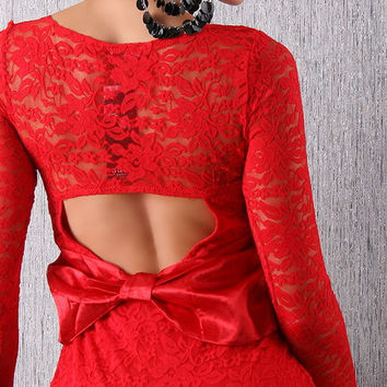 Red Lace Dress 8-10