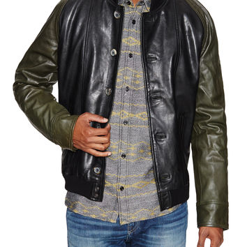 Levi's Made & Crafted Men's Contrast Leather Bomber Jacket -
