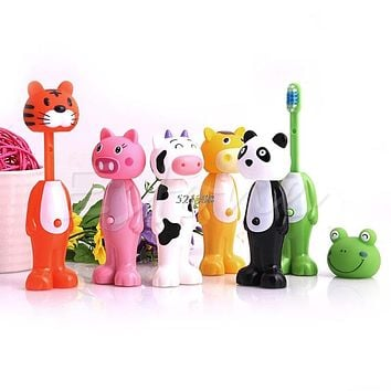 Baby Toothbrush Silicone Toothbrush Kids Cartoon Tooth Brush Soft Bristle Tooth Brush Mouth Clean