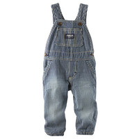 Jersey-Lined Hickory Stripe Overalls