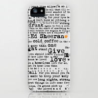 Ed Sheeran iPhone & iPod Case by Adel