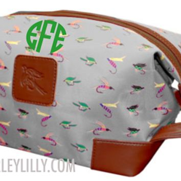 Personalized Men's Fish Fly Large Toiletry Bag