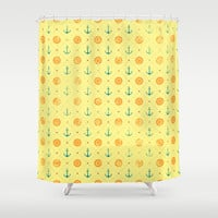 Old Navy Pattern Shower Curtain by BadOdds