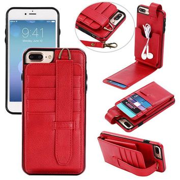 Multi-slots Phone Case for iPhone/Samsung Card Holder Purse Coins Bag