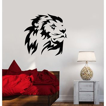 Vinyl Wall Decal Lion King Head African Animal Predator Stickers (3527ig)