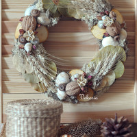 Christmas, rustic, handmade home decor, Christmas wreath, Holiday wreath
