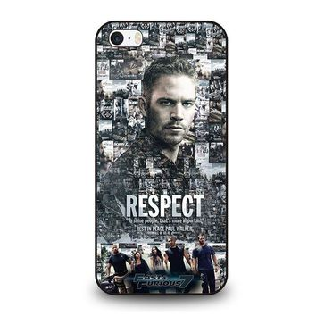 FAST FURIOUS 7 PAUL WALKER iPhone SE Case Cover