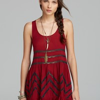 Free People Top - Tiny Dot Lace Trapeze | Bloomingdale's