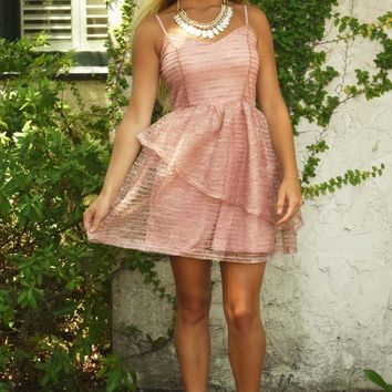 Runaway Smile Dress: Blush - Hope's Boutique