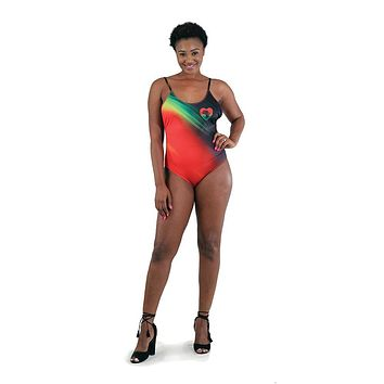 Heart Africa One-Piece Swimsuit